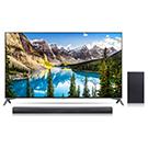 Téléviseur DEL Smart écran 55po barre de son 4K et caisson
