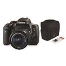 Ensemble Caméra DSLR Rebel T6i 18-55mm avec Étui et Pile