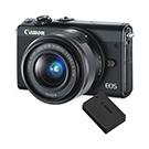 Caméra Eos M100 + Pile LP-E12 supplémentaire