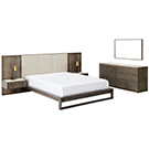 Mobilier de chambre à coucher Grand lit 2 places