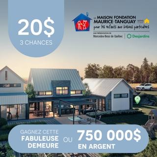 Billet Maison Fondation Maurice Tanguay Novoclimat 2020