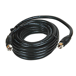 Câble coaxial RG6 avec fiche F aux 2 bouts 15pi
