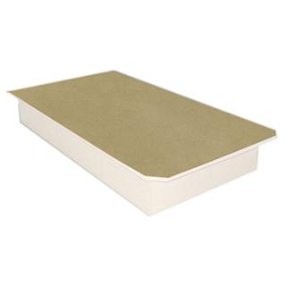 Plateforme de lit simple 8.5po de hauteur - Blanc