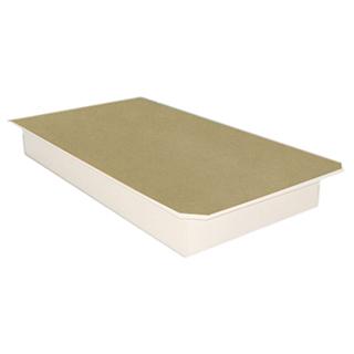 Plateforme de lit double 8,5po de hauteur - Blanc