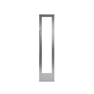 Panneau vitré avec cadre acier inoxydable poignée à gauche