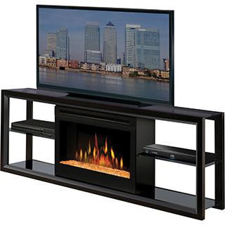 Meuble télé 60 po avec Foyer intégré