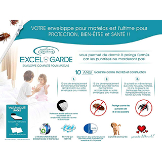 Protège-matelas Excel-Garde lit simple XL