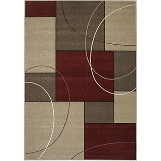 Carpette « Casa » tissée à la machine (5.3x7.7pi)