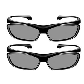2 lunettes 3D passive