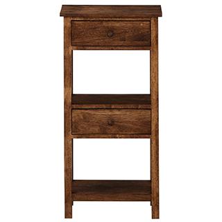 Table d'appoint / rectangulaire / contemporaine / en bois  CAMPFIRE SLIM