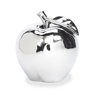 Pomme décorative argentée
