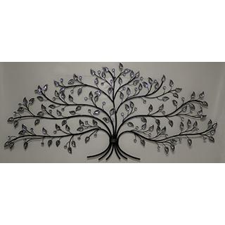 Décoration murale en métal et brillants d'un arbre