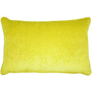 Coussin rectangulaire jaune