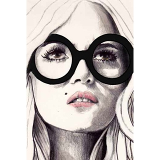 Toile laquée 48x72po Femme au lunette