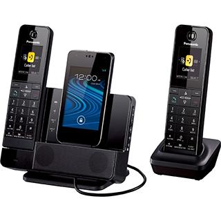 2 téléphones sans fil Dock à téléphone intelligent Bluetooth