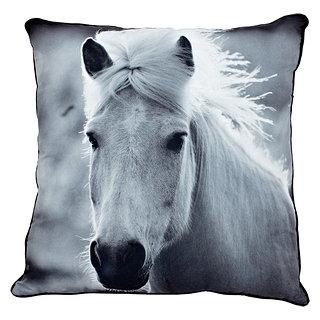 Coussin carré imprimé cheval