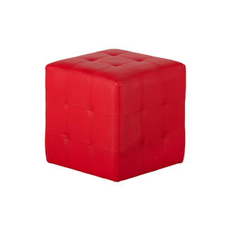 Tabouret cube rouge