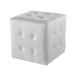 Tabouret cube blanc