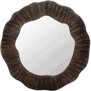 Miroir rayé 2 tons bruns 11po