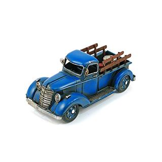 Camion décoratif en métal bleu