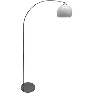 Lampe de plancher fini chrome/blanc