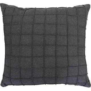 Coussin carré en tissu feutré gris foncé