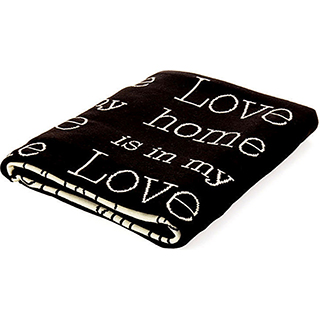 Jeté en jacquard Love