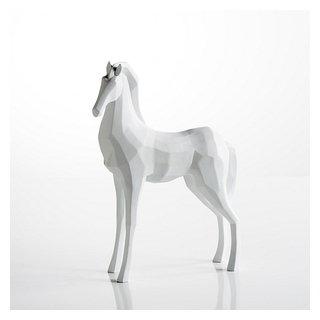 Cheval décoratif blanc