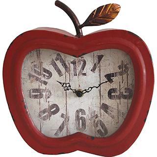 Horloge de table en forme de pomme rouge