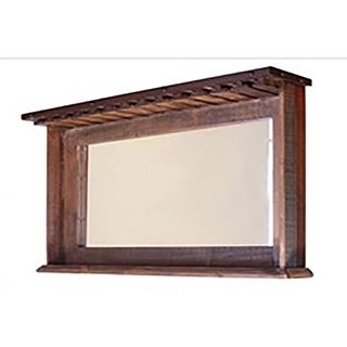 Miroir avec tablette porte-verres