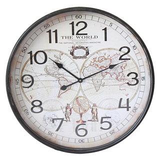 Horloge murale mappe monde