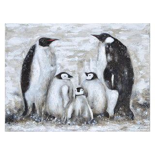 Toile Family March (Famille de pingouins)