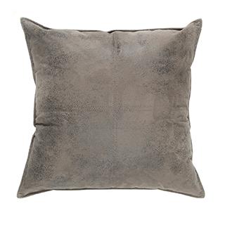 Coussin carré imitation cuir charcoal - petit