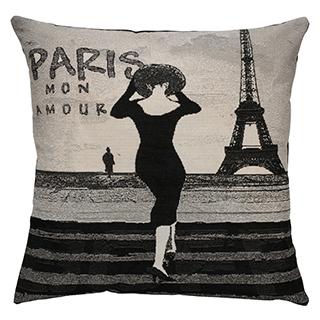 Coussin carré Paris mon amour