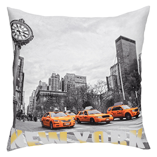 Coussin carré Taxis de New York
