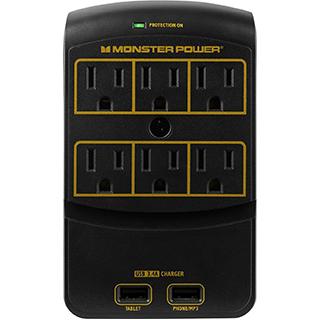 Barre d'alimentation /parasurtenseur Gold 6 prises 2 USB