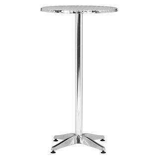 Table de bar pliante Christabel en aluminium poli