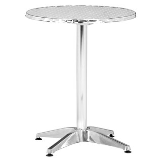 Table pliante Christabel an aluminium poli