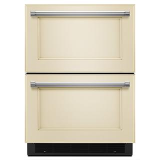 Réfrigérateur/tiroir congélateur de 24po à recouvrir