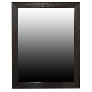 Miroir biseauté en bois brun fonçé