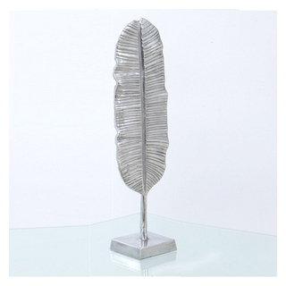 Sculpture feuille de palmier II en aluminium