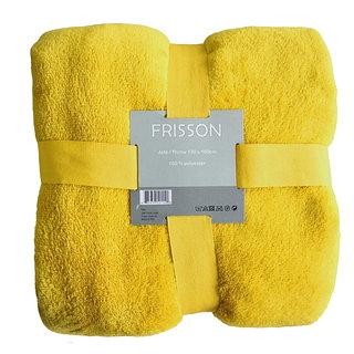 Jeté jaune 100% polyester