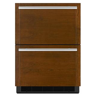 Réfrigérateur double tiroir à recouvrir