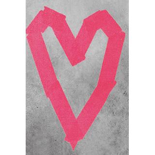 Toile Coeur rose 12x18