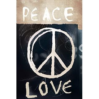 Toile Peace & Love