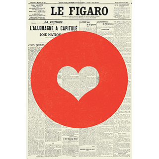 Toile Coeur de Figaro 12x18 po