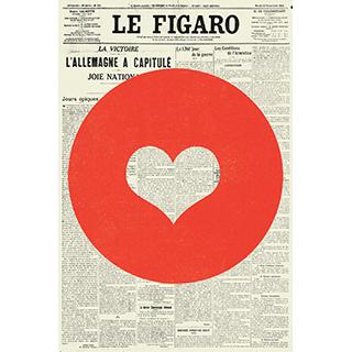 Toile Coeur de Figaro 12x18