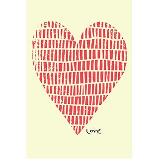 Toile Coeur Love
