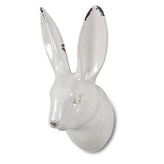 Appliqué mural tête de lapin