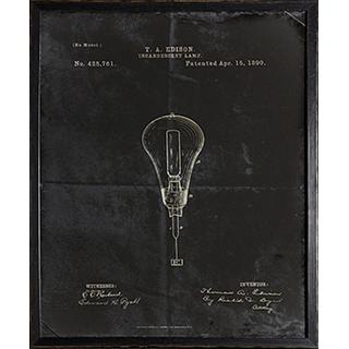Cadre Ampoule Edison 1890